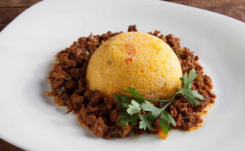 Canjiquinha com Carne Ralada